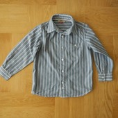 5-6 лет John Lewis теплая отличная рубашка хлопок. Длина - 47 см, ширина - 37 см, плечи - 26 см, рук