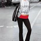 Спортивные брюки Yoga Victoria's Secret с красным поясом