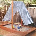 Деревянная песочница-кораблик