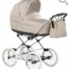 Классическая коляска Roan Marita Prestige Chrom цвет S 152 кожа, цвет бежевый