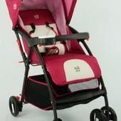 Детская коляска-трость joy (С 958) розовая