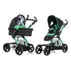 Универсальная коляска ABC Design 4 TEC черно-зеленая