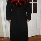 Кашемировое пальто (осень-теплая зима) с двумя воротниками. Разм. M/L.