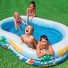 Надувной семейный бассейн Лагуна с широкими бортиками интекс Intex 262x160x46см