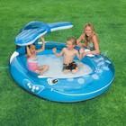 Детский надувной бассейн с фонтанчиком кит Интекс 208х157х99 см!ХИТ!