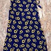 длинная юбка, размер S-M-L, юбочка легкая с цветами