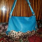 Женская Сумка Распродажа наличие голубая леопард