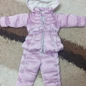 Зимний комбинезон chicco для маленькой принцессы, 9 месяцев