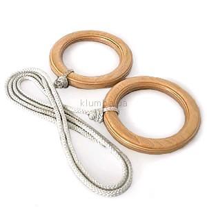 Гимнастические кольца детские деревянные фото №1
