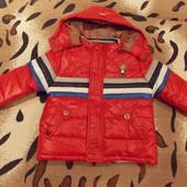 Куртка детская красная для мальчика