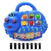 Музыкальный инструмент для самых маленьких - Пианино-звери (в полиэтилене). Артикул 614