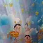 Яркая и нежная тюль в детскую. И штора-компаньен к ней.