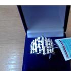 Эффектное серебряное кольцо скидка