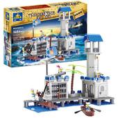 Конструктор для мальчиков Пиратская база, 365 деталей, игровые фигурки, лего-подобный, арт. 87012