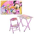 Столик парта со стулом Bambi DT19-13 Минни Маус железная  Детский столик Минни Маус DT