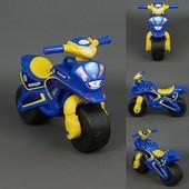 Байк Полиция Мотоцикл сине-желтый 0138/570 беговел Долони каталка