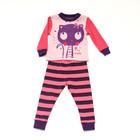 Пижама для девочки Котенок, размер 80, 86 см