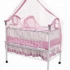 Кроватка детская Geoby TLY-632R-В80, розовый с белым