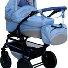 Польская коляска Marsel, голубого цвета.