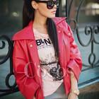 Красная курточка под кожу