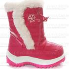Дутики. Сноубутсы малиновые с белым. Обувь детская зимняя. Дешево.