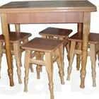 Кухонный раскладной стол. Новый. Табуретки.