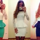 Платье с баской Нежность 3 цвета в наличии