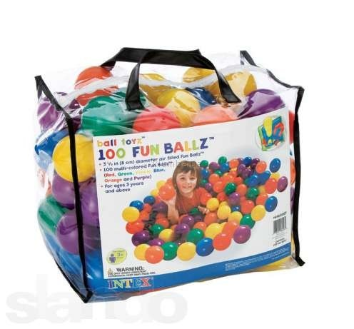 Мячики-шарики для сухого бассейна (100 шт) Intex фото №1