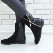 Ботинки с декоративной молнией.Осень-зима