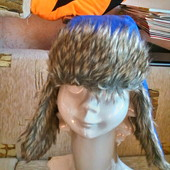 Зимняя шапка для мальчика 8 -12 лет ( 128 - 152)