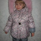 Зимние комбинезоны для девочки Вишенка  куртка+штаны  86 110 рост
