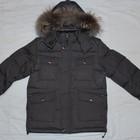 Удлиненная зимняя куртка мальчик на пуху размеры 134, 140, 146, 152, 158,164см