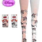 """Колготы для девочек белые и розовые с рисунком """"Мини Маус"""", бренд """"Disney"""""""