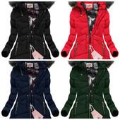 Женская зимняя куртка-парка ассиметричная