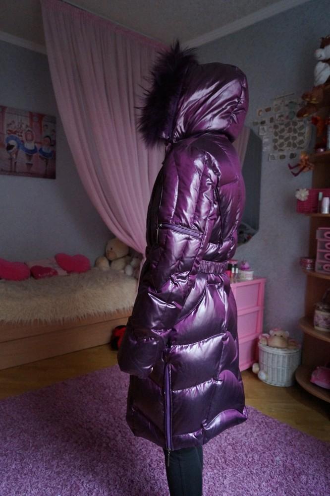Зимнее пуховое пальто, пуховик, для девочки, новый, опушка-песец, р. 40-44 фото №1
