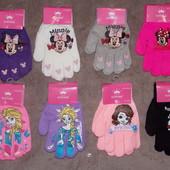 Новые перчатки для девочек с накатом в наличии