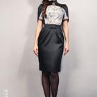 Коктейльное авторское платье-тюльпан