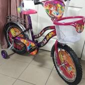 Детский двухколесный велосипед Mustang Winks феи винкс на 12,14,16,18,20 д для девочек