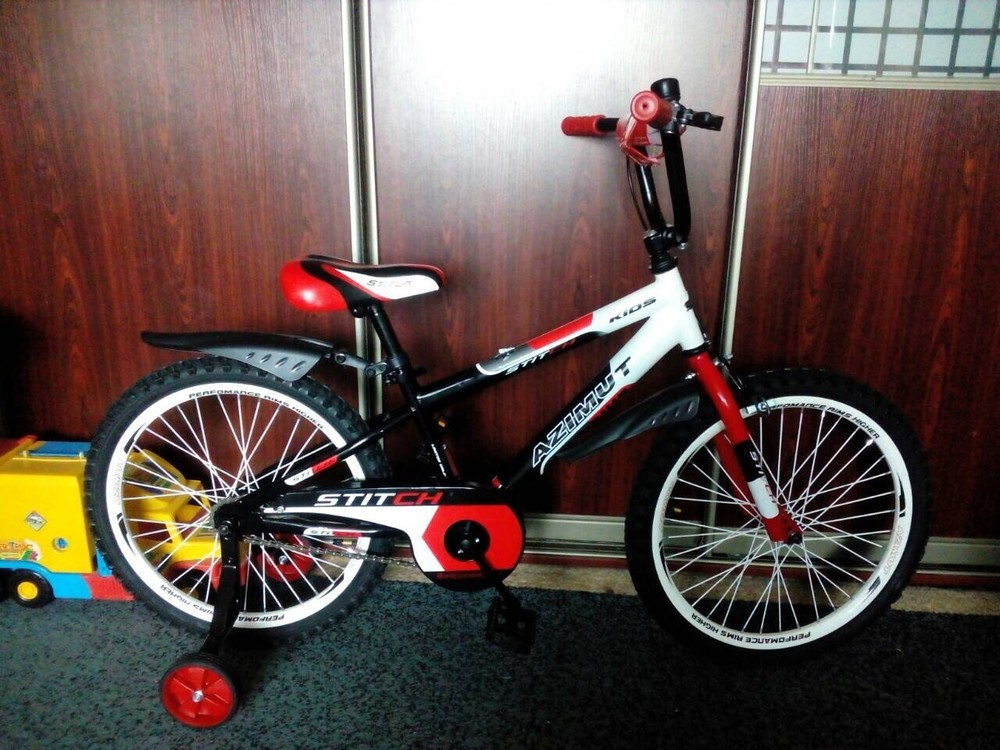 Детский двухколесный велосипед azimut stitch для мальчиков, девочек фото №1