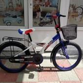 Azimut Майбайк детский двухколесный велосипед красный на 14,16,18 д
