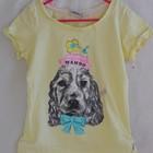 Симпатичная футболочка девочке с собачкой на 4-6 лет