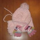 Комплект зимний шапка шарф на девочку 3-5 лет Agbo Польша