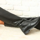Сапоги кожаные черные зима, р.36-40, итальянский стиль