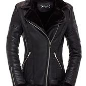 Женская зимняя куртка косуха на меху