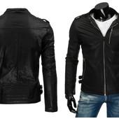 Мужская стильная куртка из эко-кожи Уценка!