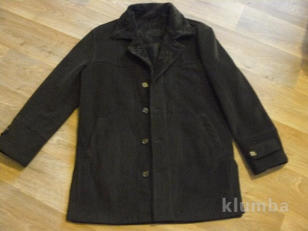 Стильное вельветовое пальто фото №1