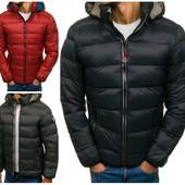 Мужская зимняя спортивная стеганная куртка (еврозима)