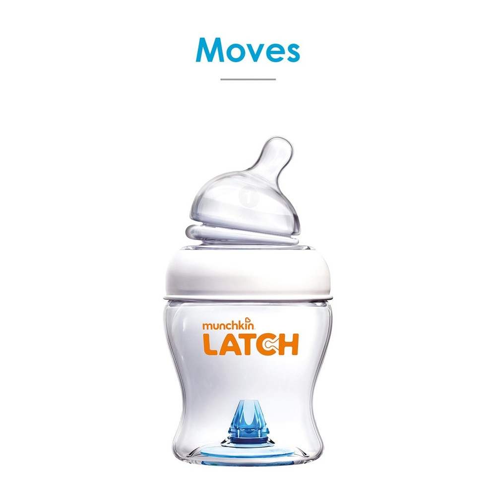 Бутылочка latch пластиковая, 120мл, соска силикон, 0m+ фото №1