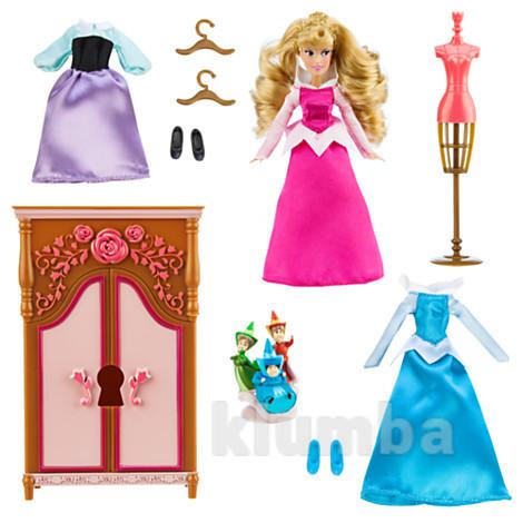 Мини кукла аврора с гардеробной дисней оригинал фото №1