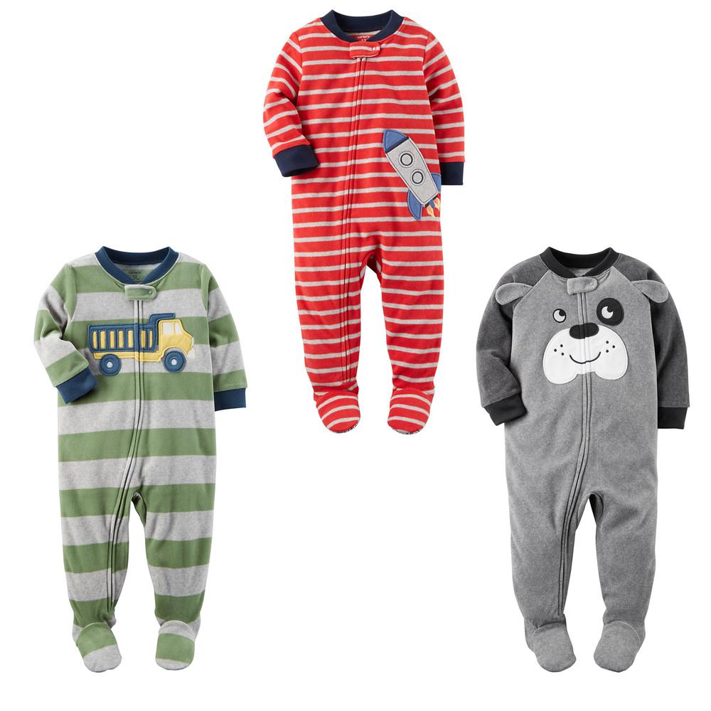 Новая коллекция. флисовые пижамки, слипы carters на рост 68-86см фото №1